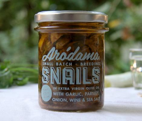 """Σαλιγκάρια σε ελαιόλαδο με σκόρδο, μαϊντανό, κρεμμύδι, κρασί & θαλασσινό αλάτι, Κρήτης """"Arodama"""" 100g"""